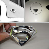 1 Pcs Car Metal Silver Superman Sticker Exterior Decorative Decal Badge Emblem