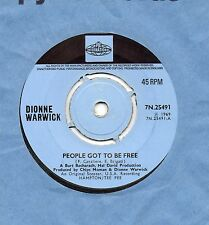 DIONNE WARWICK people got to be free*you're all i need to get by 1969 UK PYE 45