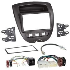 PEUGEOT 107 05-14 2-DIN radio de voiture Set d'installation + câble, Adaptateur,