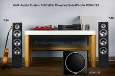 """Polk Audio FUSION T-50 Tower Speakers With PSW-125 Power SubWoofer 12""""/300w"""