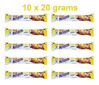 10 x Nestle NESQUIK Crunchy Chocolate Wafer Bars 10 x 20g 0.7oz
