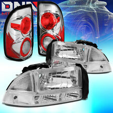 FOR 97-04 DODGE DAKOTA CHROME HEADLIGHT+CLEAR BUMPER+ALTEZZA BRAKE/TAIL LAMP SET