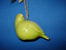Bird Ornament Green Ceramic 92735 91