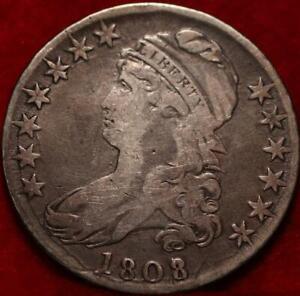 1808 Philadelphia Mint Silver Capped Bust Half Dollar