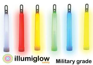 "ILLUMIGLOW Glow Sticks 6"" Premium Military Grade (4 Sticks Per Pack)"