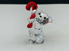 Swarovski Figurine Crystal Bear 5222231 Christmas 2016. 2in Top Condition