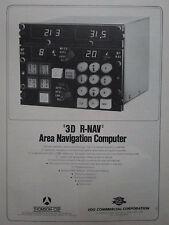 5/1974 PUB THOMSON-CSF AVIONIQUE EDO 3D R-NAV AREA NAVIGATION COMPUTER AD