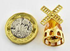Vintage 9ct Gold Charm - Citrine Windmill 6.88g (Hallmarked)