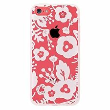 Agent 18 iPhone 5C Shockslim White Flowers Case Cover Multi-Color Fitted 7E
