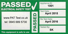 240x Fully Personalised Cable Wrap PAT Testing Labels