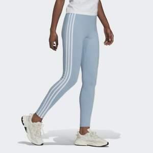 Adidas Originals ADICOLOR CLASSICS 3-STRIPES LEGGINGS Blue 8 10 12 14 16