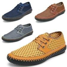 Summer Men's Beach Breathable Mesh Casual Lace up Shoes Driving Loafers Shoes
