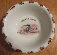 MOTHER GOOSE   VINTAGE 1986  SOUP/CEREAL BOWL