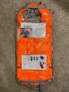 7AM ENFANT Blanket 212 Evolution Stroller Car Seat Foot Muff Neon Orange 0-4T