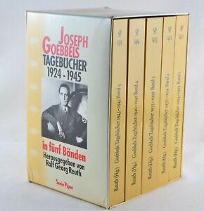 GOEBBELS Tagebücher 1924 - 1945 in fünf Bänden - Serie Piper 1992
