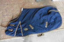 """Beval Blanket Turnout Coat Horse Dress sheet cooler equestrian scrim Navy sz 62"""""""