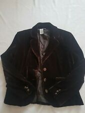 Women's Blazer Wearever Size 8 Dark Brown Button up
