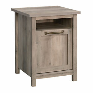 Better Homes & Gardens Modern Farmhouse Side Table with USB, Rustic Gray Finish