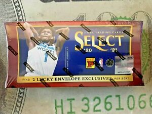 2020-21 Panini Select NBA New Sealed Lucky Envelopes Look For 2 #/8 Cards Hits🔥