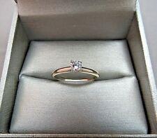 14k White Gold 0.24 Diamond Solitaire Engagement Ring 2.11g Size 8 Designer Mark