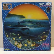 NEW & SEALED‼ VTG‼ 1996 Roseart Wyland 500 Pc. Puzzle Dolphins Surfing Circle