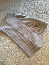 Vintage Gray Plaid Wool Blend 1950's Straight Leg School Girl Slacks Pants Small