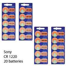 Sony CR1220 3V Lithium Coin Battery (20 Batteries)