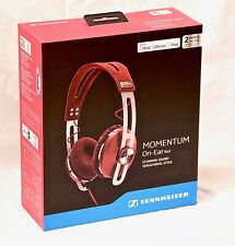 NEW SENNHEISER Momentum On-Ear Headphones Inline Remote & Mic for Apple (RED)