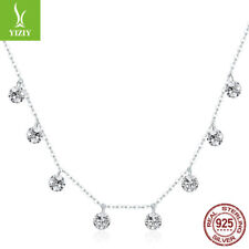 Beauty Of Simplicity 925 Sterling Silver Pendant Necklace Women Chain Jewelry