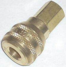 "Eaton Hansen Series 3000 Brass Air Coupler Body 1/4"" NPT Push Connect Interchang"