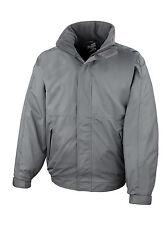 Mens Fleece Lined Blouson Jacket Coat Grey XXXXL 56 Winter Warm Waterproof 4xl