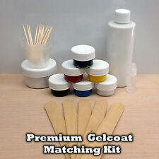 GELCOAT RESIN MATCH REPAIR KIT FOR FIBERGLASS BOAT COLORS - SCRATCHES AND CHIPS