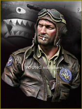 Young Miniatures US Flying Tigers Pilot WW2 YM1843 1/10th Unpainted Bust