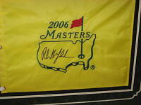 PHIL MICKELSON signed 2006 MASTERS Golf Flag Sports Illustrated FRAMED