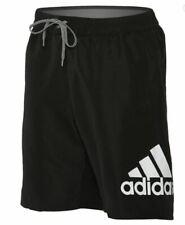 "Men's adidas Logo Mania 20"" Volley Shorts S Black New NWT Beach Trunks"