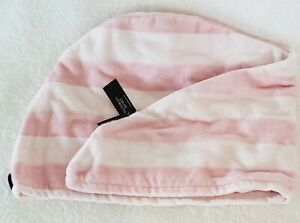"""Victoria's Secret Signature Striped Hair Towel Pink 9"""" L X 24"""" W New With Tags"""