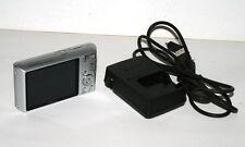 Sony Cyber-shot DSC-W610 14.1MP 4X Zoom Silver Digital Camera Bundle Charger