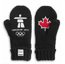 Vancouver 2010 Team Canada Black Red Maple leaf MITTENS Olympics S/M Unisex