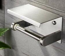 Toilettenpapierhalter Klopapierhalter mit Ablage WC Rollenhalter Selbstklebend