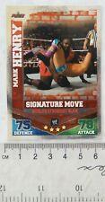 2010 Mark Henry, Signature Move, Topps Slam Attax Mayhem Trading Card
