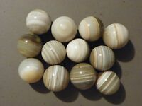 Marble Banded Bullseye Natural Gemstone 1 of 1 1/4 to 1 3/8 Agate Vintage