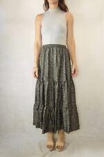 JENNY BELL Vintage Olive Floral Print Maxi Skirt Size (8-10)