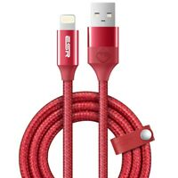 ESR Braided USB 1m MFi Certified Lightning Cable - Red - iPhone 7 8 X XS XR 11