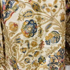 Ralph Lauren Marrakesh Paisley Bedskirt Dust Ruffle Sateen Gold Navy Blue King