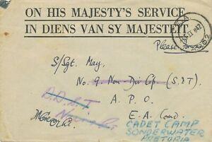 "BRITISH KUT 1942, ""E.A. / A.P.O. 2"" rare Fielpost CDS on fine field post-letter"