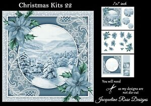 Christmas Kits 22 Decoupage 3 A4 Sheets Not Die-Cut