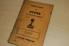 Hyster Heavy Equipment Manuals for Crawler Tractor for sale