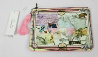 Camilla Women's Small Postcards From Then Canvas Clutch OS6 Multicolor