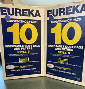 NOS Discontinued Eureka Vacuum Cleaner Bags Style B 1983 20 Bags Total