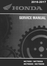 DIGITAL Honda 2016 2017 NC700 NC750 X XA XD service manual